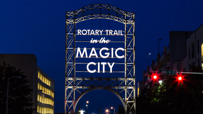 Rotary Trail sign